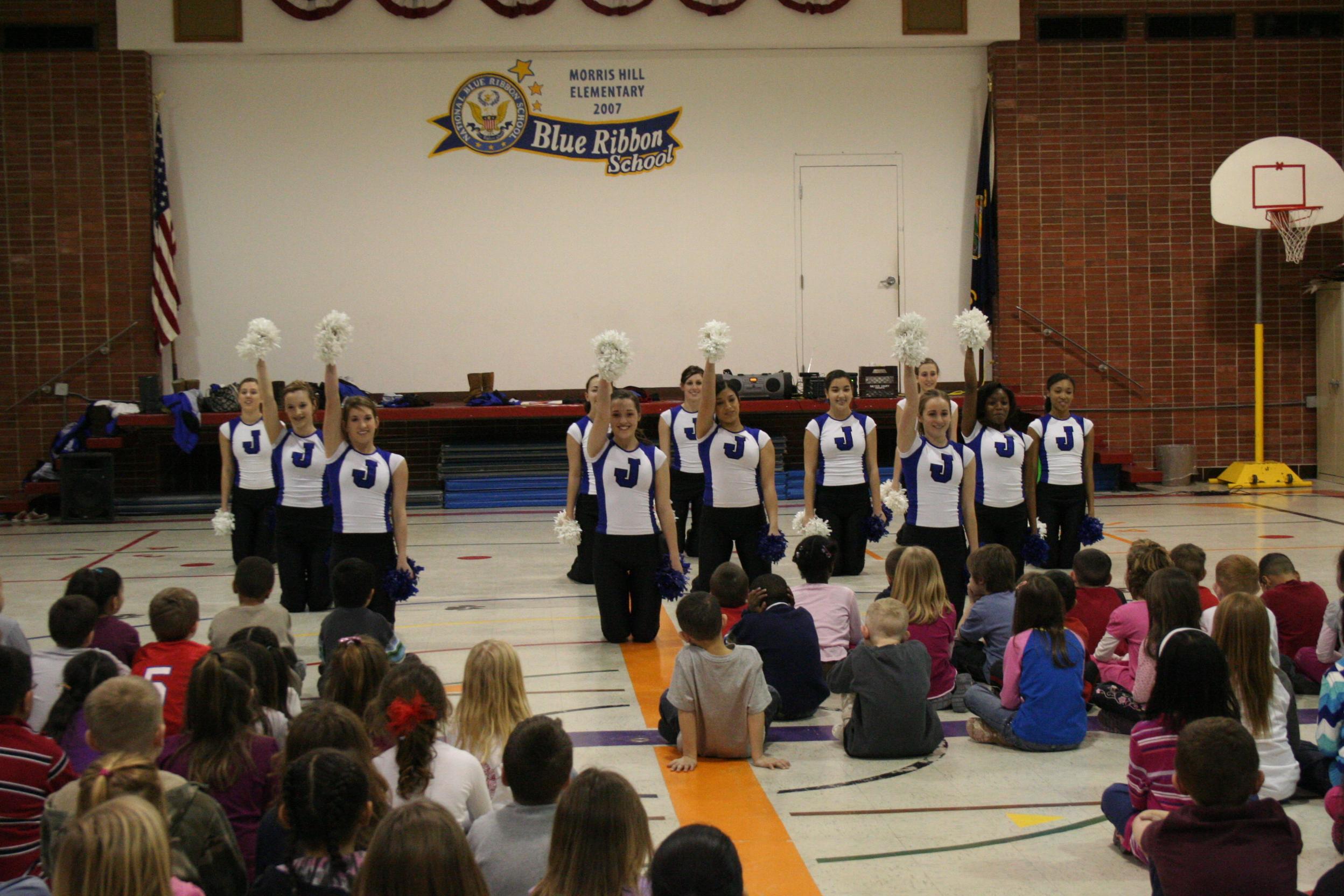 junction city dance team teaches morris hill students